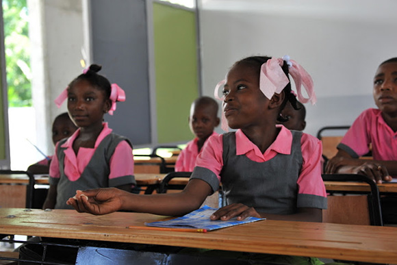 Inauguration of l'Ecole Nationale de Dessources et l'EFACAP, Petit-Goave, 2012. Source: DDC Haiti/Coopération Suisse en Haïti